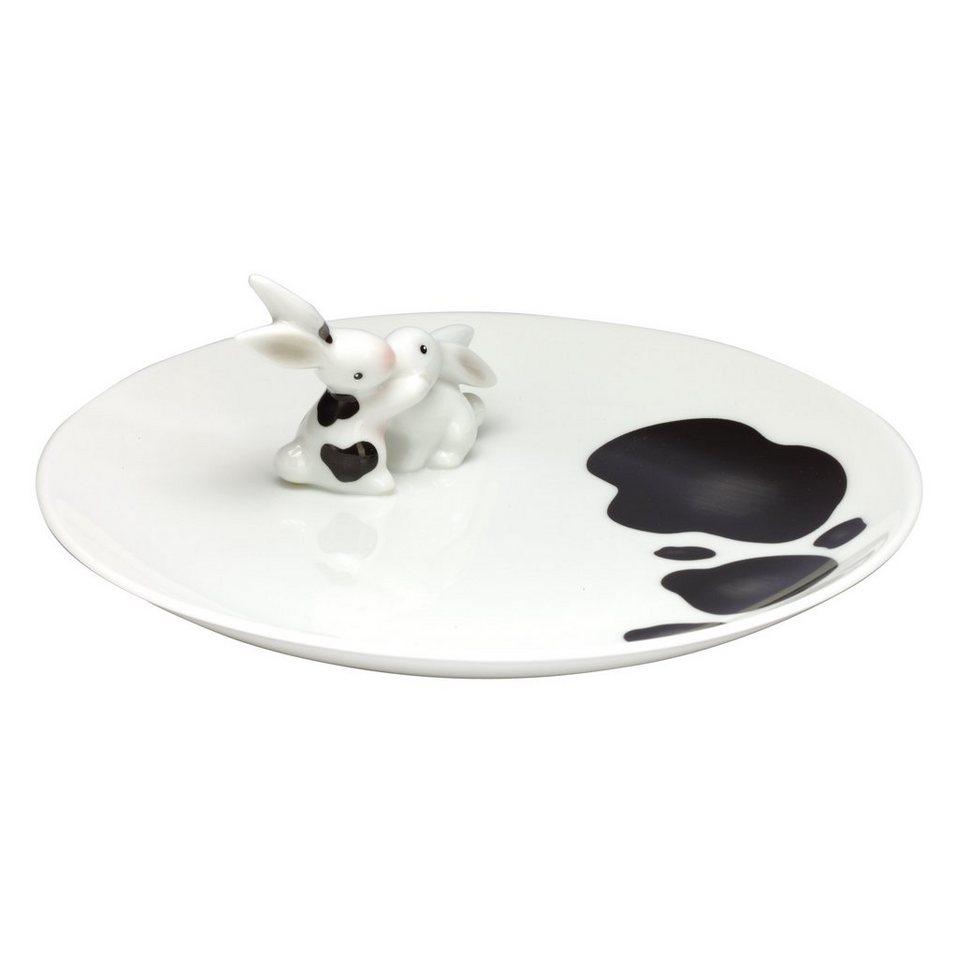 Goebel Cow Bunny - Porzellanteller »Bunny de luxe« in Bunt