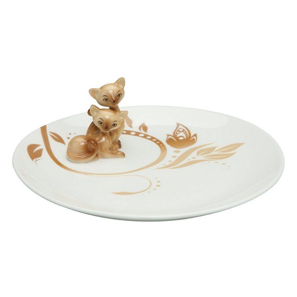 Goebel Siam Kitty - Teller »Kitty de luxe« in Bunt