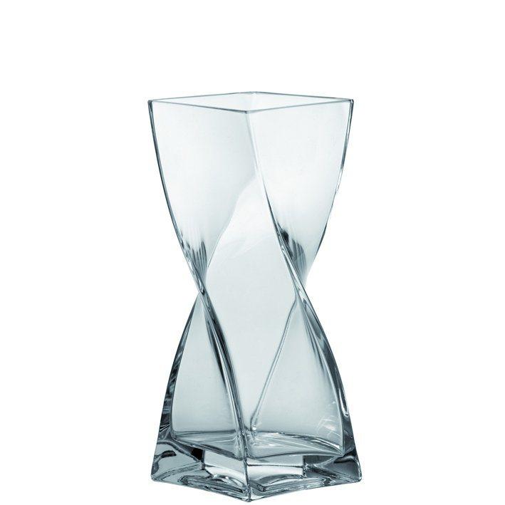 Leonardo Vase Swirl 25 cm in Transparent