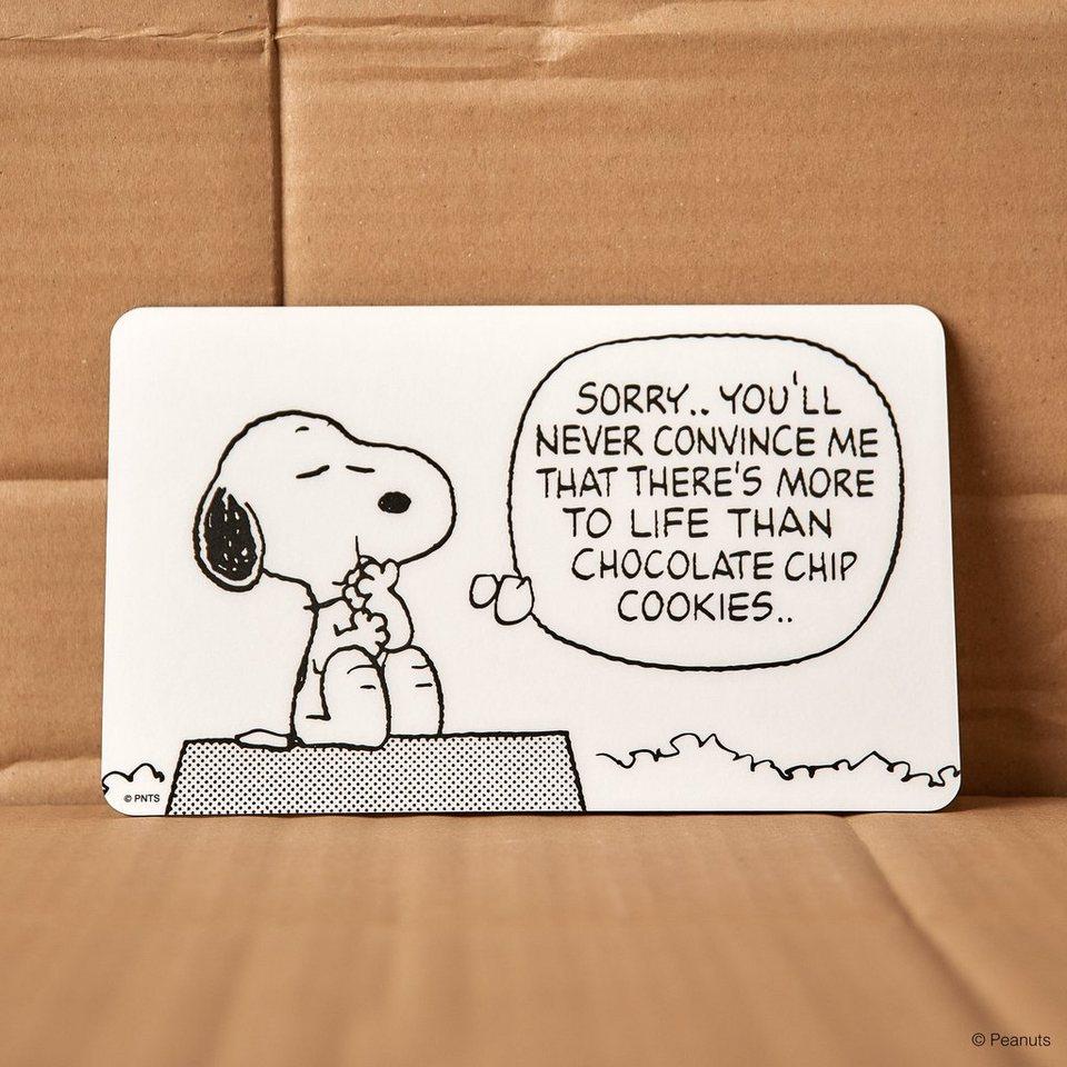 BUTLERS PEANUTS »Frühstücksbrettchen Snoopy/Sorry« in schwarz-weiss