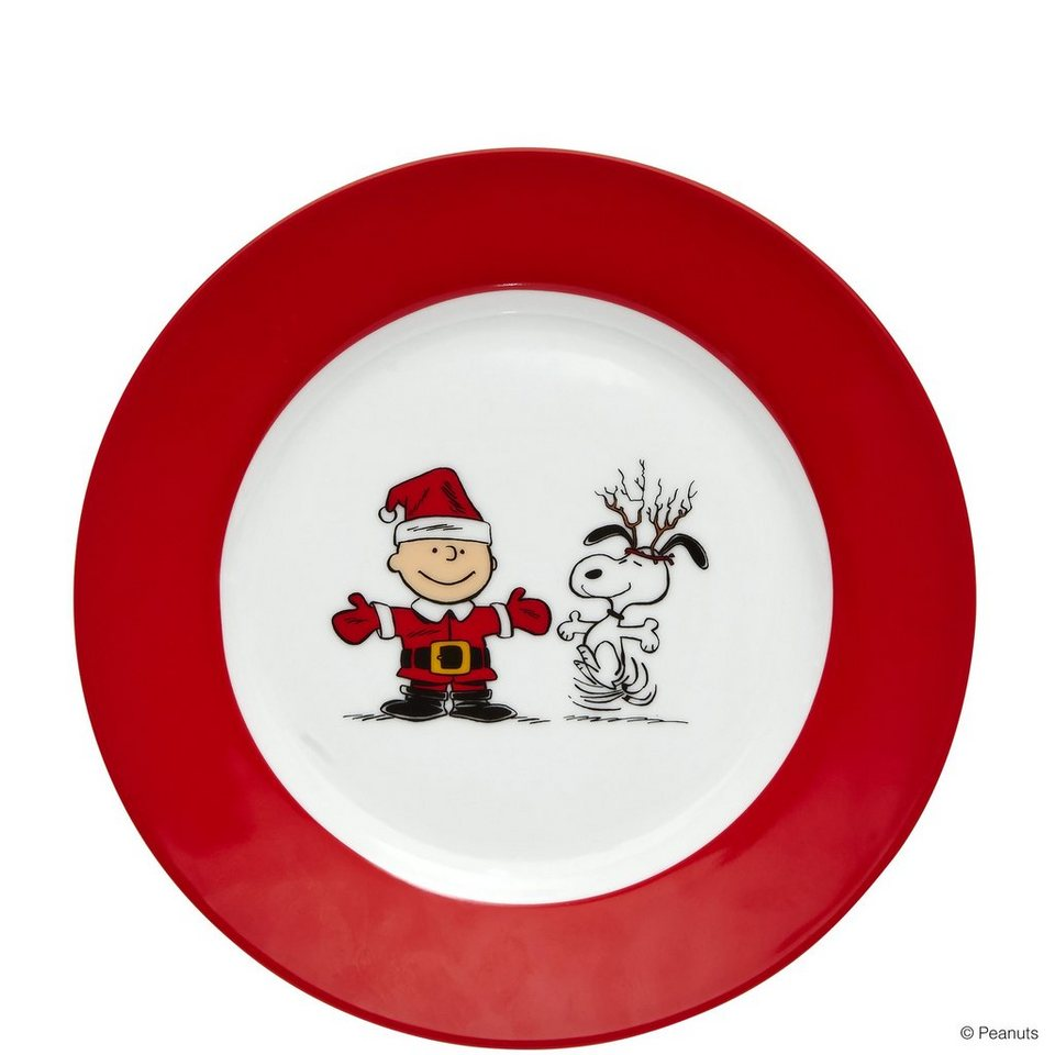 BUTLERS PEANUTS »Snoopy & Charlie Brown Teller« in rot-weiss