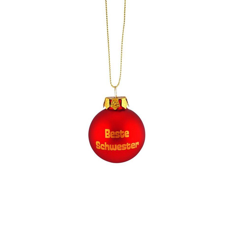 BUTLERS HANG ON »Glaskugel 'Beste Schwester'« in rot-gold