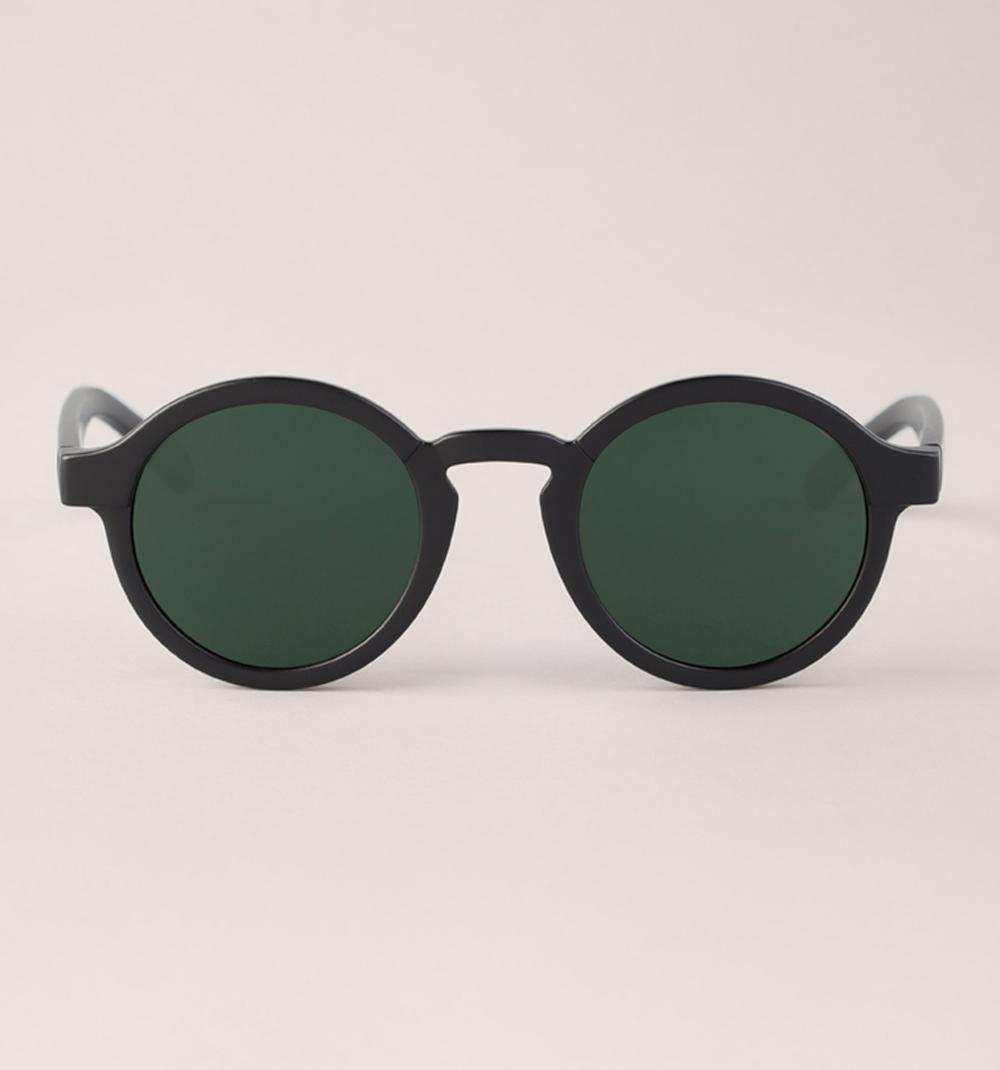 Mr. Boho Sonnenbrille »Matt schwarze Dalston mit klassischen Linsen«