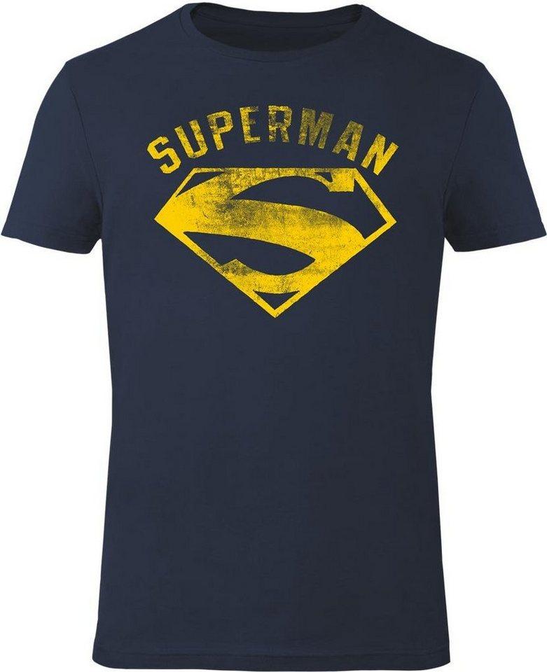 Gozoo T-Shirt »Superman - Vintage Flock« in Dress Blue