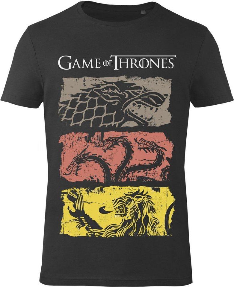 Gozoo T-Shirt »Game of Thrones - House Stark, Lannister, Targarye« in Black