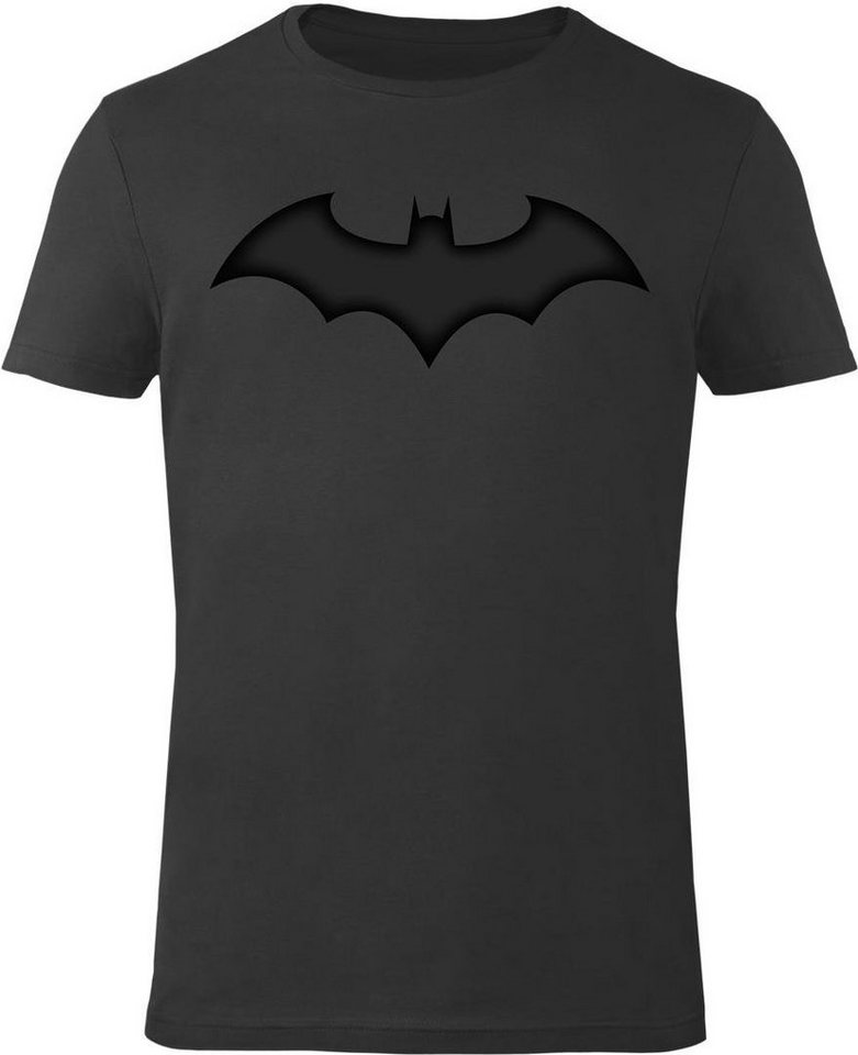 Gozoo T-Shirt »Batman - Leather Bat« in Leather Black