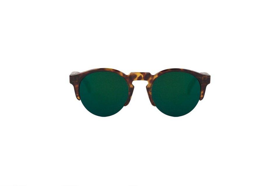 Mr. Boho Sonnenbrille »Cheetah Tortoise Born mit dunkelgrünen Gläsern« in CHEETAH TORTOISE