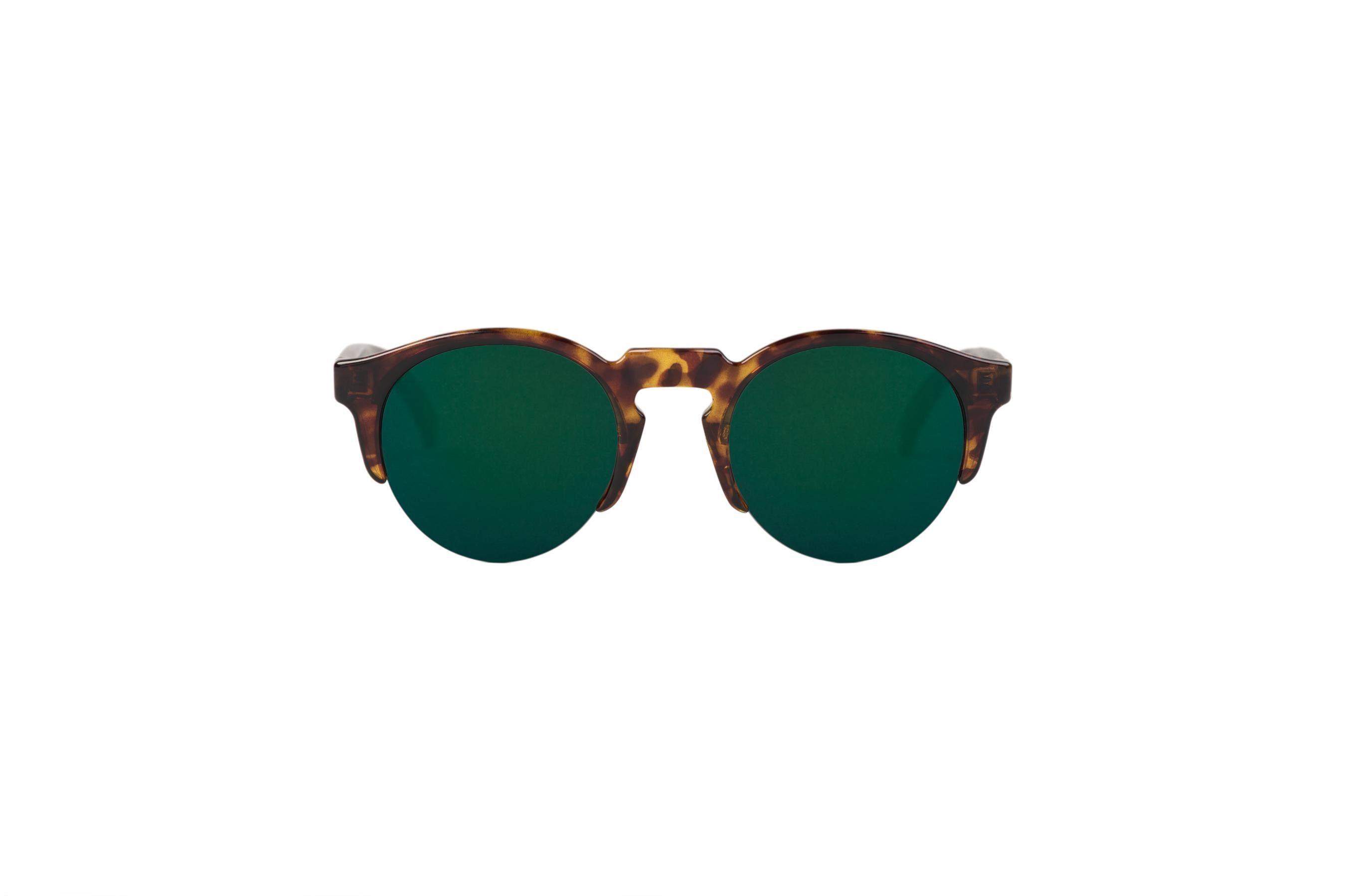 Mr. Boho Sonnenbrille »Cheetah Tortoise Born mit dunkelgrünen Gläsern«