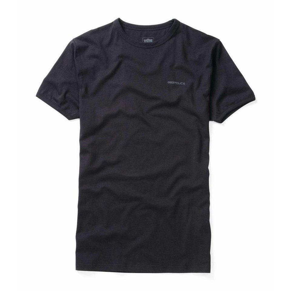 883 Police T-Shirt »CREW BASIC« in BLACK