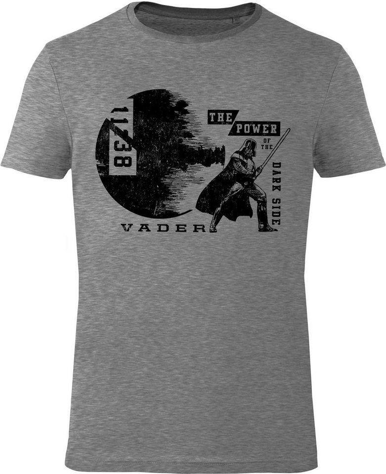 Gozoo T-Shirt »Star Wars - The Power Of The Dark Side« in Grey Melange