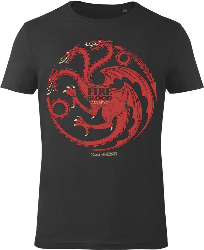 Gozoo T-Shirt »Game of Thrones - House Targaryen - Fire and Blood« in Black