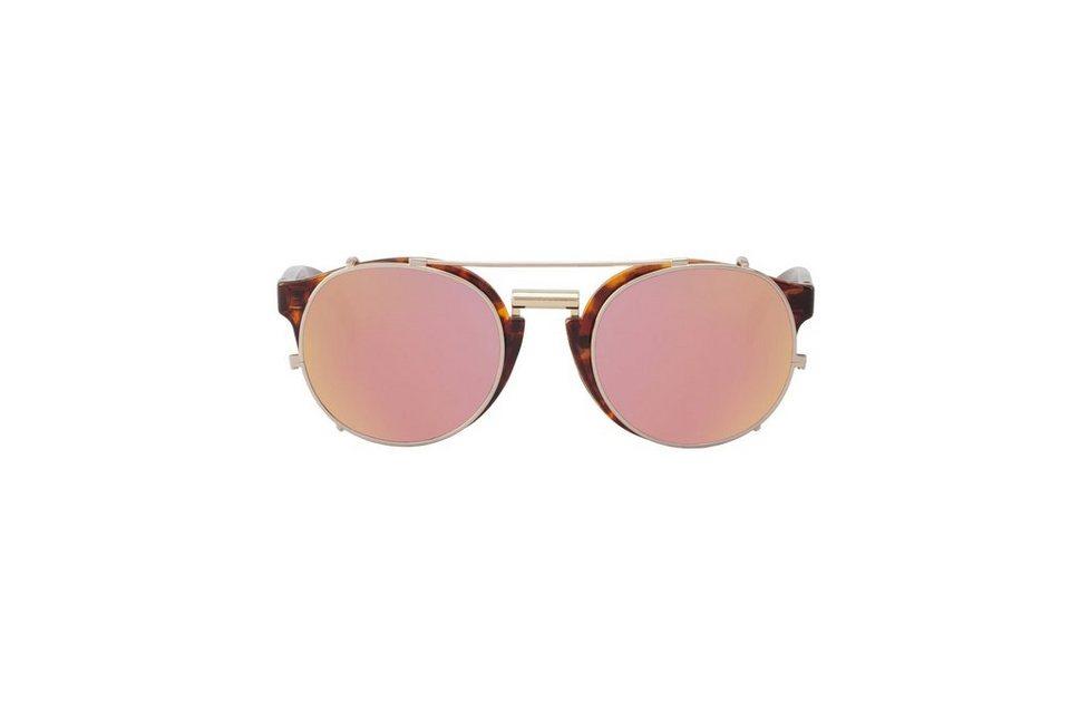 Mr. Boho Sonnenbrille »Vintage Tortoise Newtown mit kupferfarbenen Gläser« in PINK