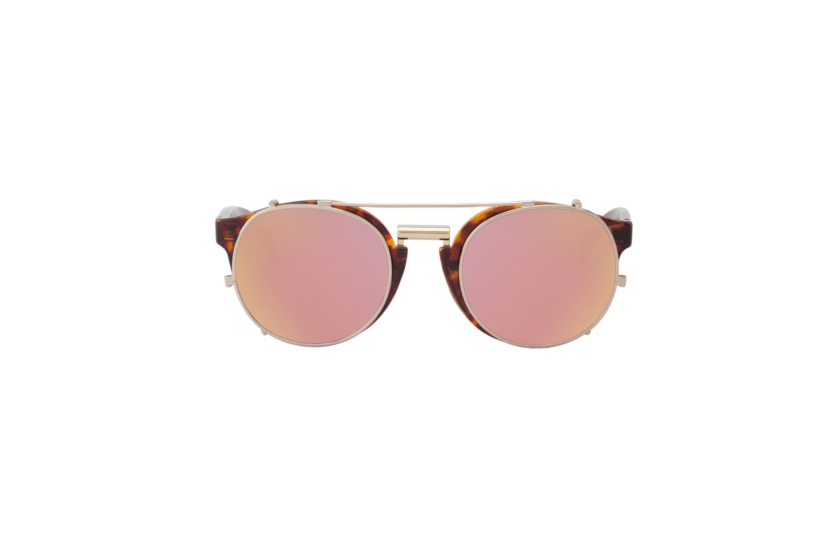 Mr. Boho Sonnenbrille »Vintage Tortoise Newtown mit kupferfarbenen Gläser«