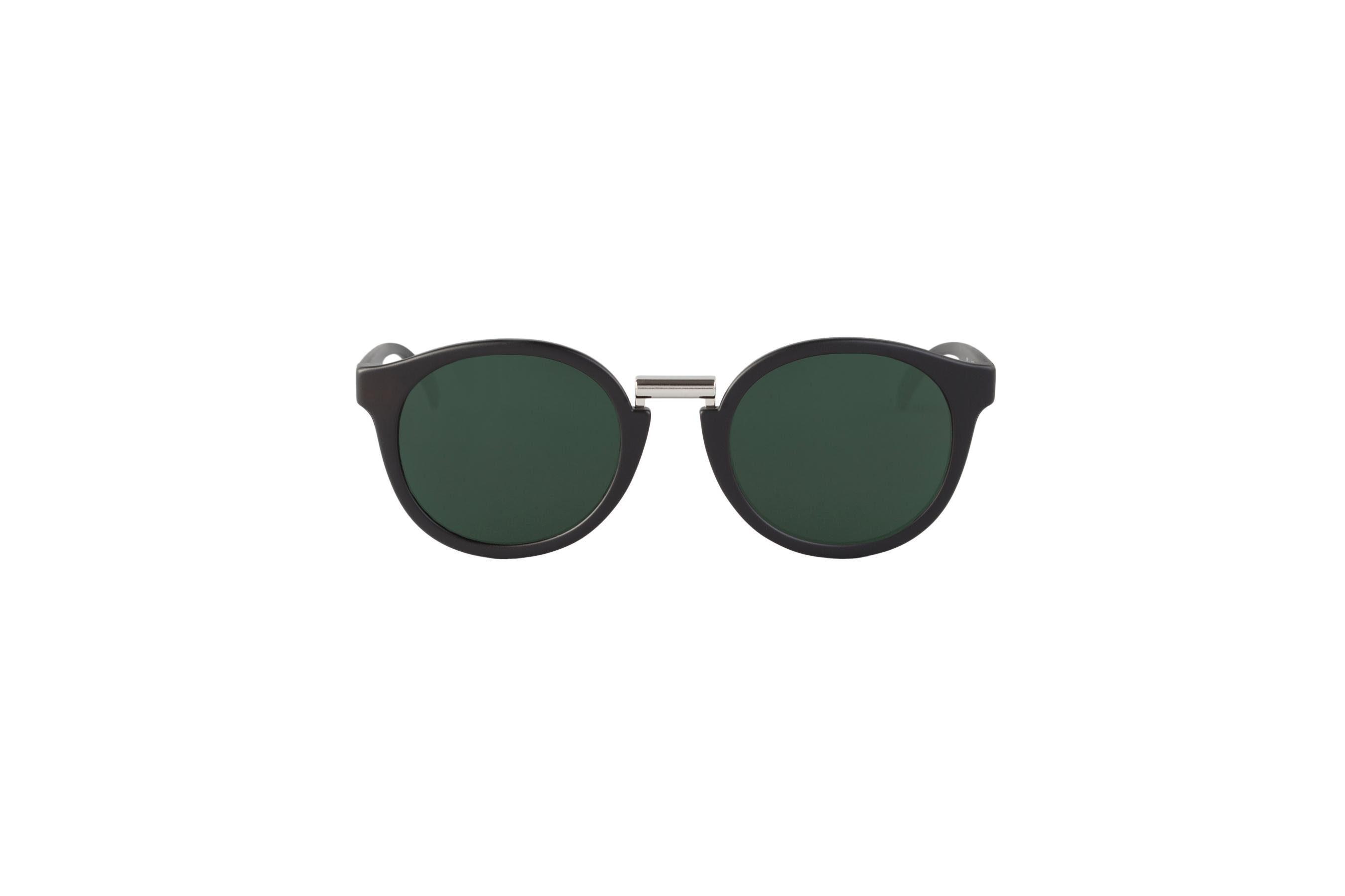Mr. Boho Sonnenbrille »Matt schwarze Fitzroy mit klassischen Gläsern«