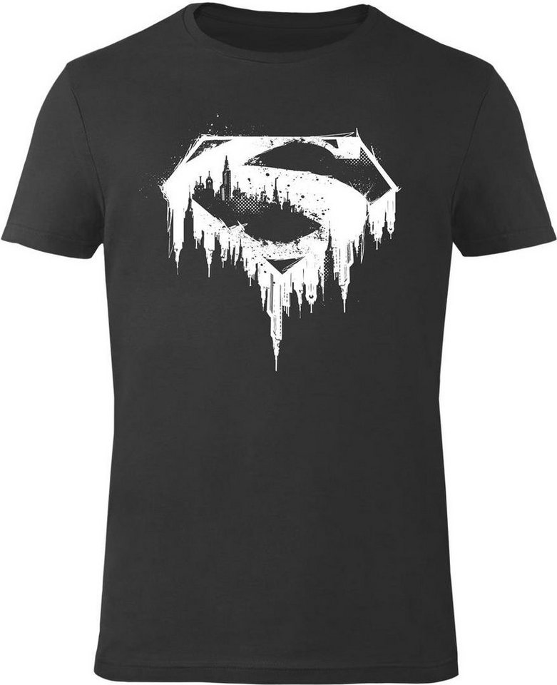 Gozoo T-Shirt »Superman - Urban Metropolis« in Black