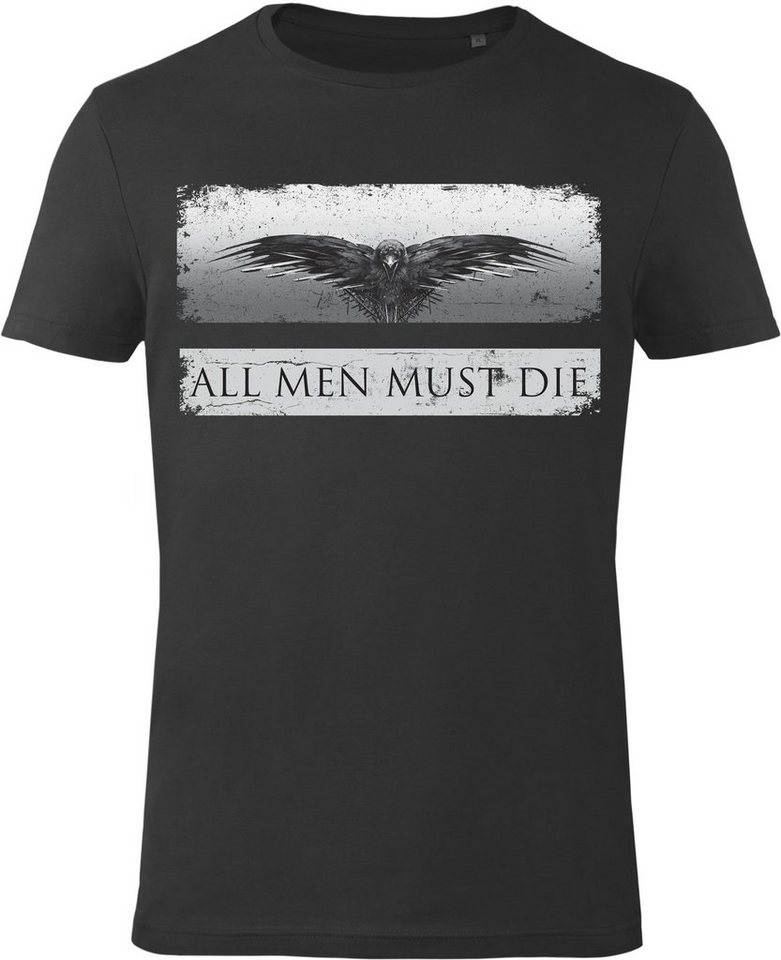 Gozoo T-Shirt »Game of Thrones - All Men Must Die« in Black
