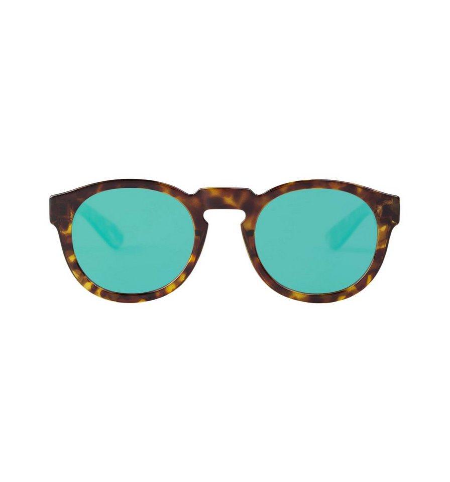 Mr. Boho Sonnenbrille »Cheetah Constrast Tortoise Noord mit grün/lilanen « in BLACK