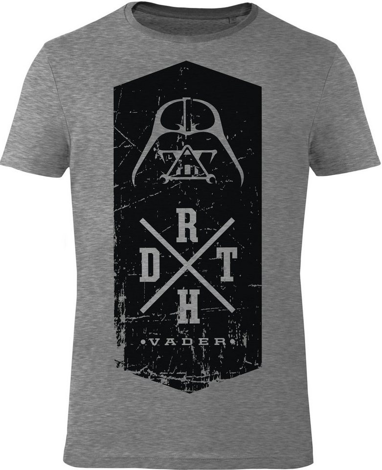 Gozoo T-Shirt »Star Wars - DRTH X« in Grey Melange