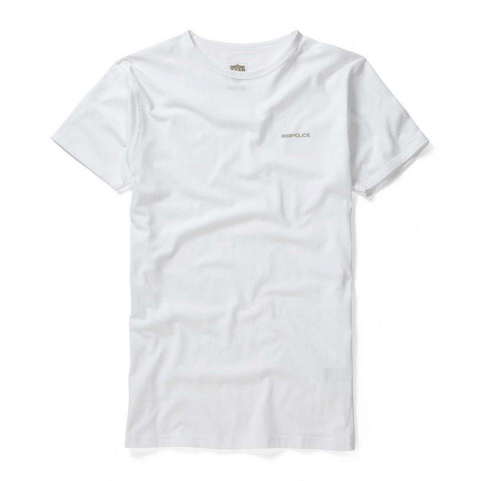 883 Police T-Shirt »CREW BASIC« in WHITE