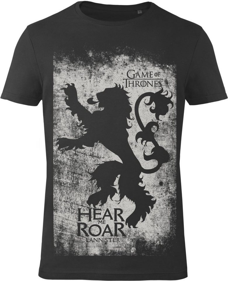 Gozoo T-Shirt »Game of Thrones - House Lannister - Sigils« in Black