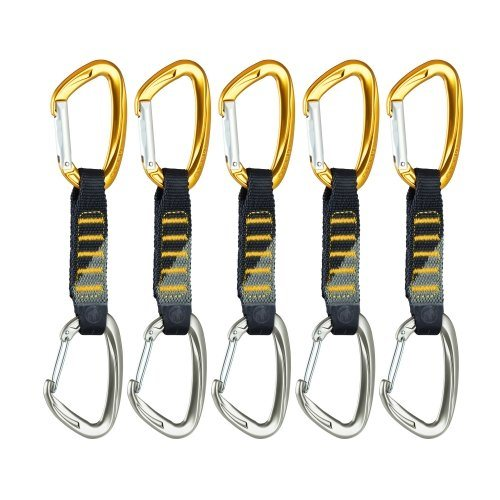 Mammut Karabiner »5er Pack Crag Express Set (straight gate/wire gate« in sun