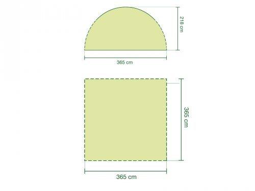 Coleman Zelte »Event Shelter 3,6 x 3,6« in grau / grün