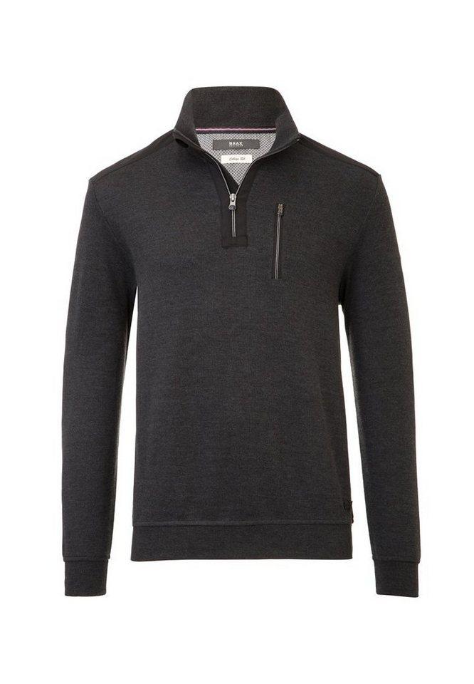 BRAX Herrensweatshirt »SIRO« in ANTHRA