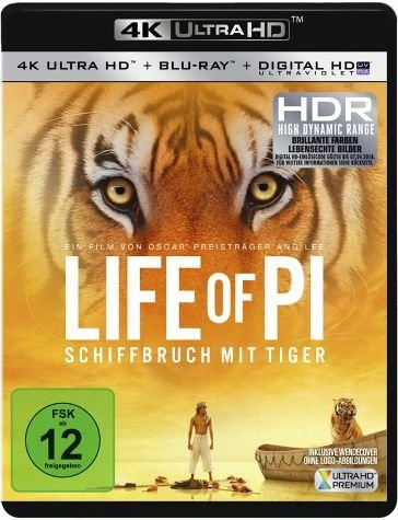 Blu-ray »Life of Pi - Schiffbruch mit Tiger (4K Ultra HD)«