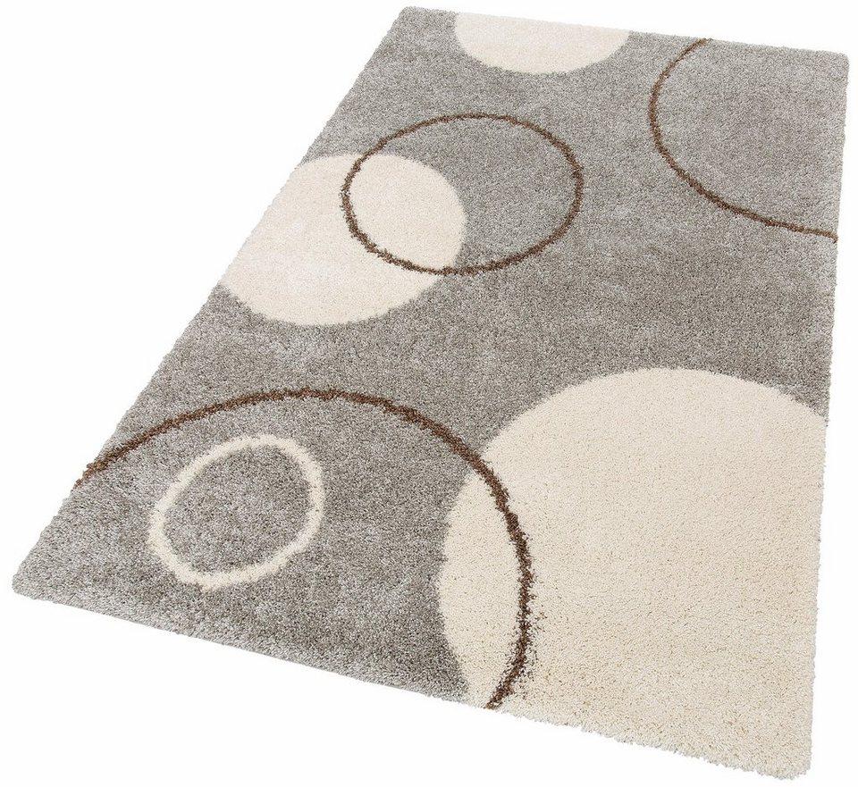 Hochflor-Teppich, Home affaire Collection, »Romy«, Höhe 40 mm, gewebt in grau
