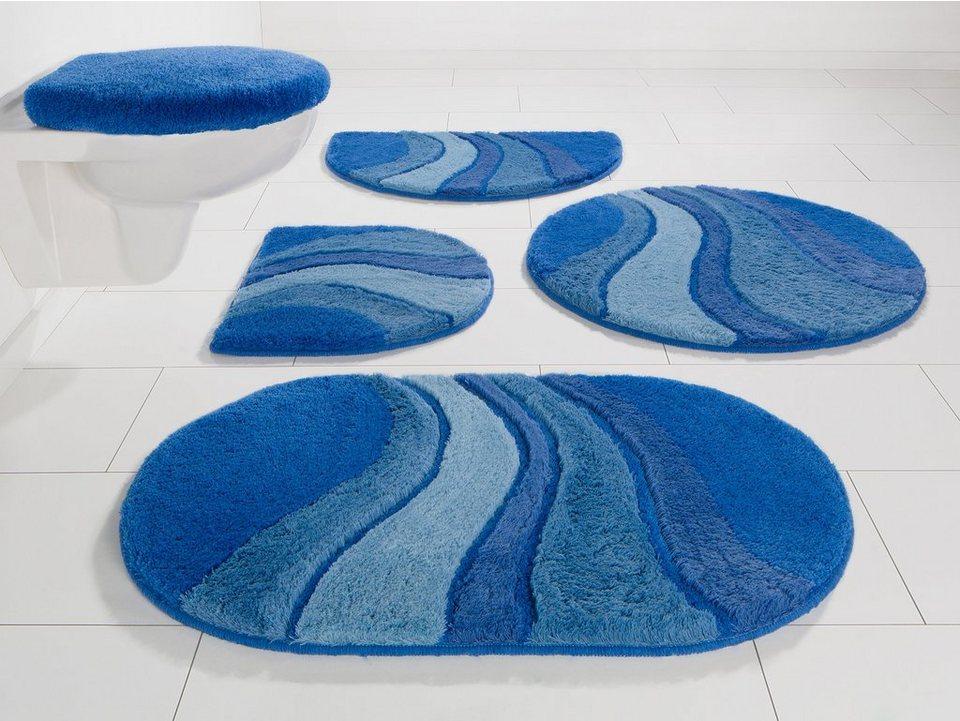Badematte, my home, »Rosalia«, Höhe 20 mm, rutschhemmender Rücken, Super weich in blau