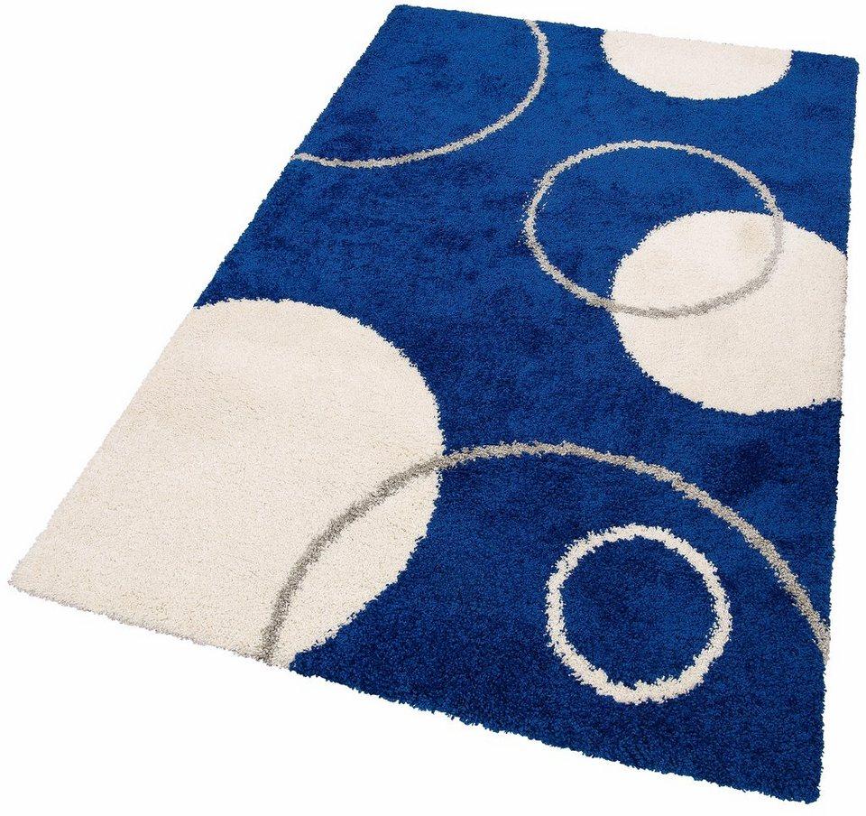Hochflor-Teppich, Home affaire Collection, »Romy«, Höhe 40 mm, gewebt in blau