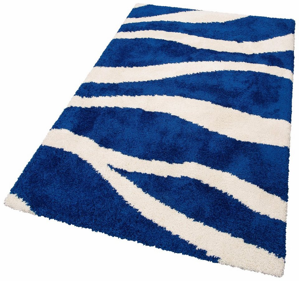Teppich Blau Hochflor