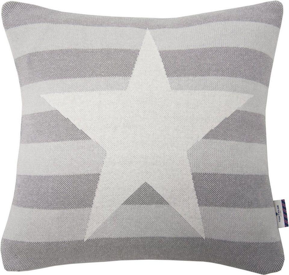 Kissenhüllen, Tom Tailor, »COTTON STAR« (1 Stück) in beige/grau