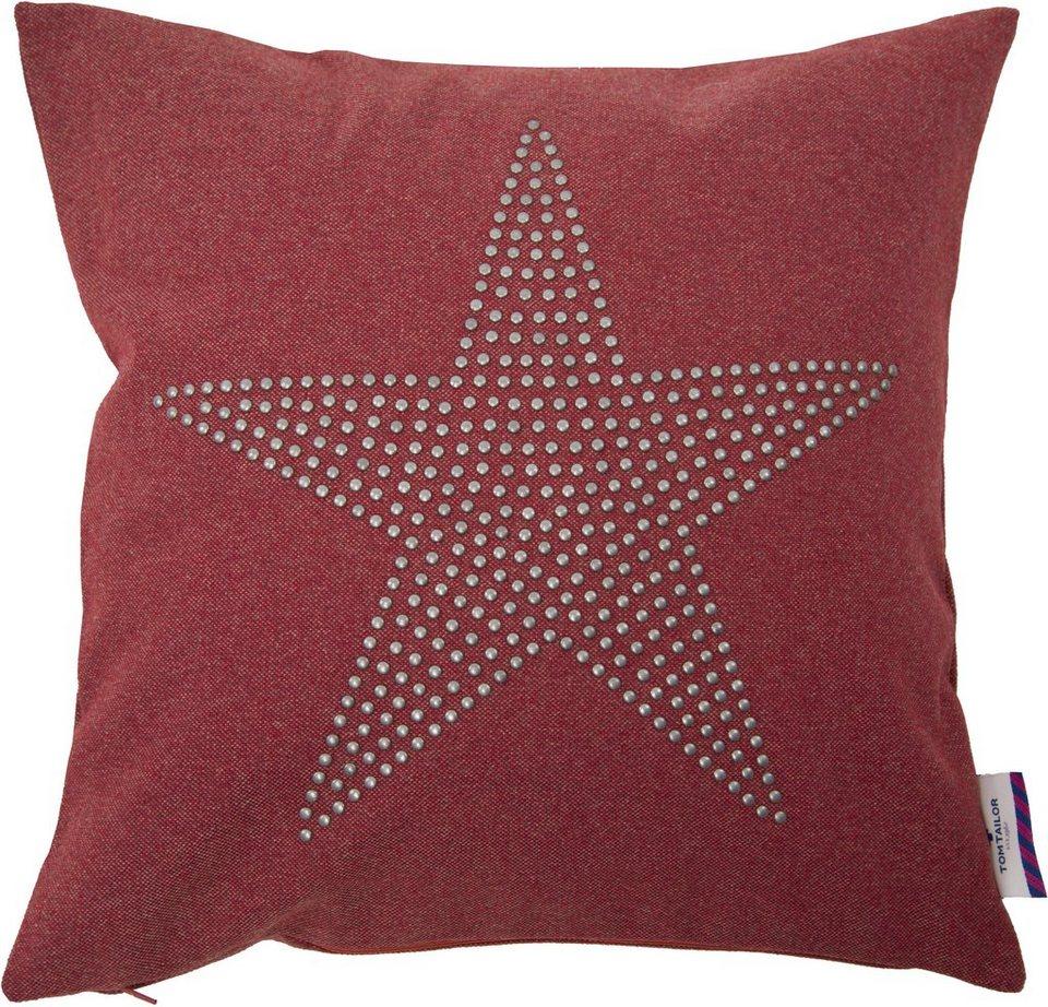 Kissenhüllen, Tom Tailor, »RIVITED STAR« (1 Stück) in rot