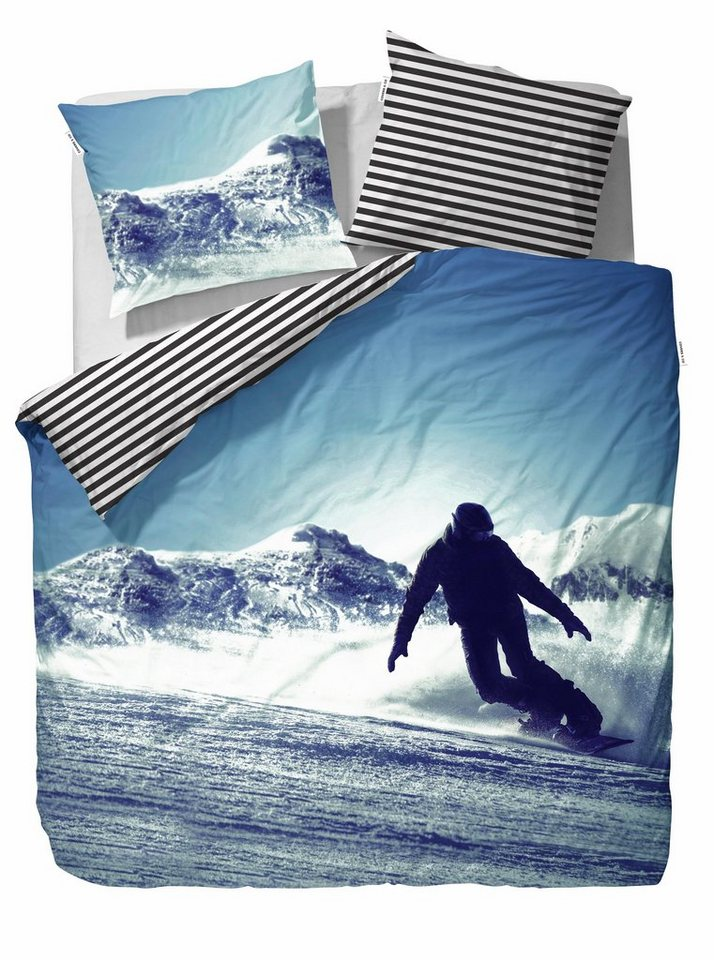 Jugendbettwäsche, Covers & Co, »Boris«, mit Snowboarder in blau