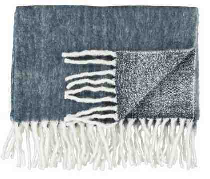 Wolldecke, Marc O'Polo Home, »Uni Wool«, mit Fransen