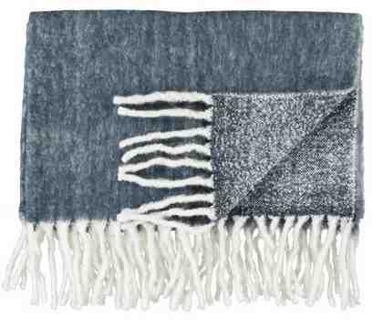 Wolldecke, Marc O'Polo Home, »Uni Wool«, mit Fransen
