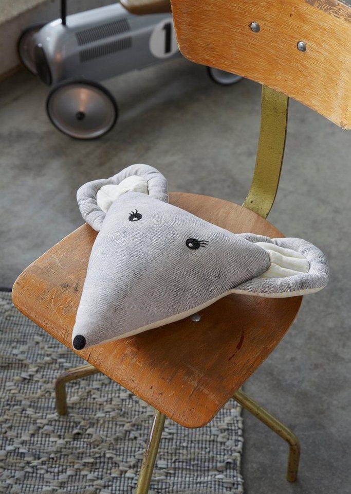 Dekokissen, Covers & Co, »Mouse«, in Mäusekopf-Form in grau