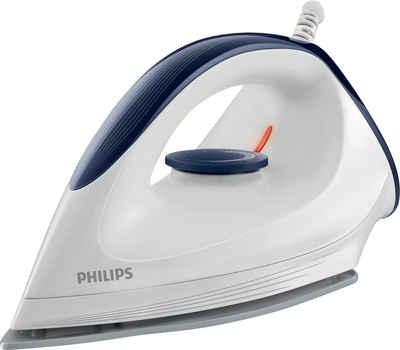 Philips Trockenbügeleisen GC160/02, 1200 W, mit gleitfähiger DynaGlide-Bügelsohle