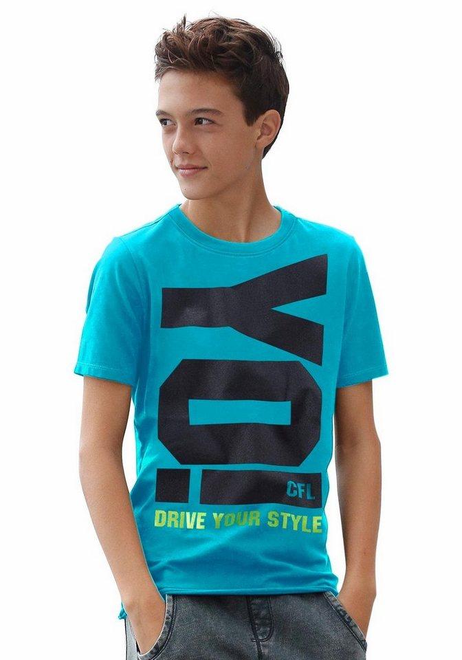 "CFL T-Shirt ""YO!"" in türkis"