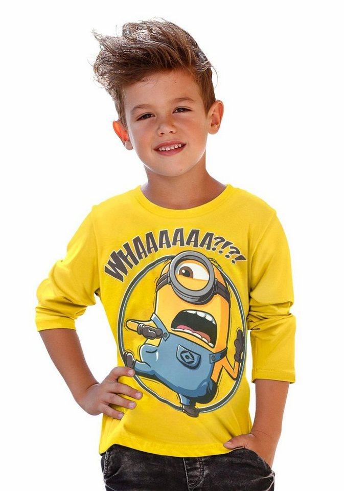 """Minions Langarmshirt Mit """"Minions"""" Druck in gelb"""