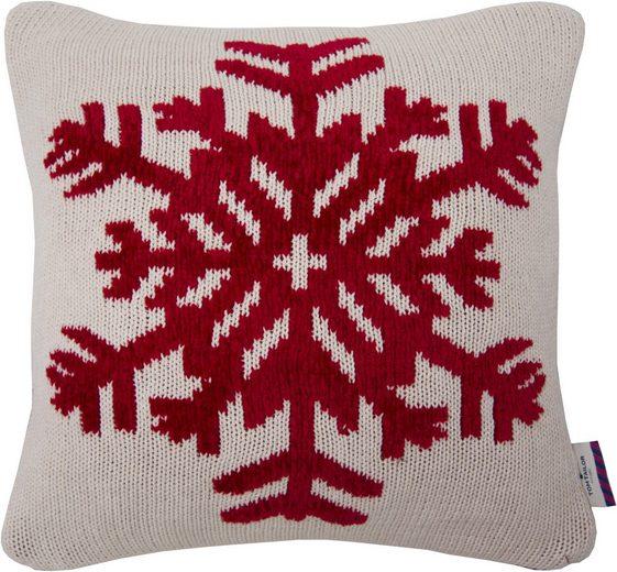 kissenh llen tom tailor chenille snowflake 40x40 cm. Black Bedroom Furniture Sets. Home Design Ideas