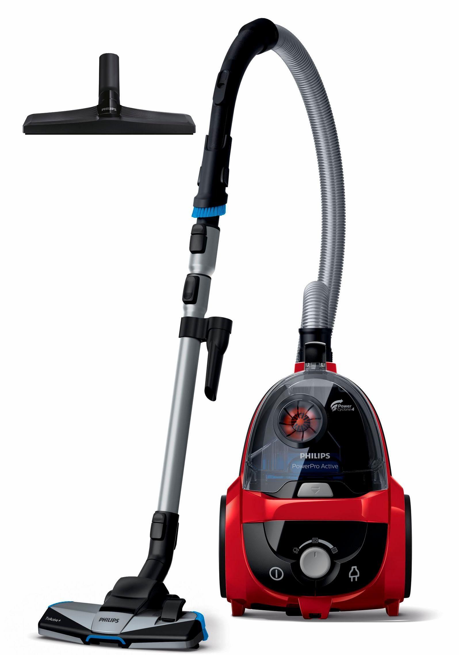 Philips Staubsauger ohne Beutel FC9532/09 PowerPro Active, 750 W, rot