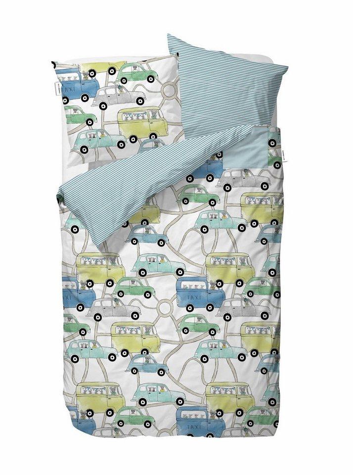 Kinderbettwäsche, Covers & Co, »Vroomm«, mit vielen Autos in blau