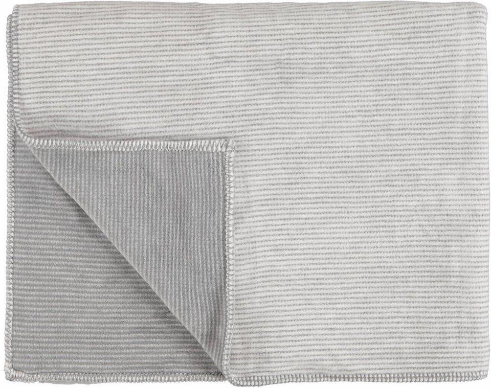 Wohndecke, Marc O'Polo Home, »Zarr«, mit feinen Streifen in natur-grau