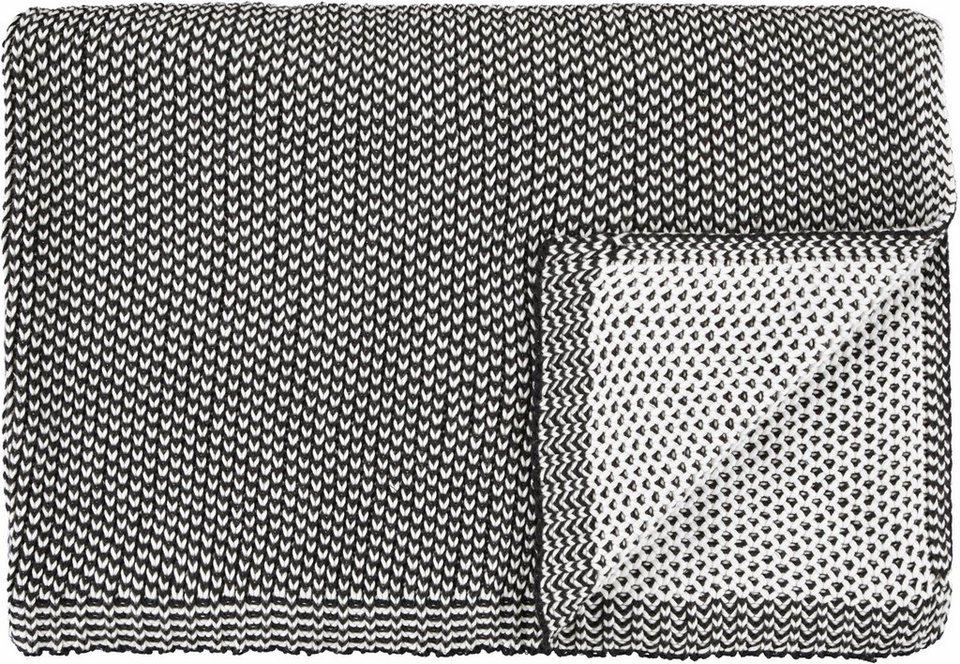 Wohndecke, Marc O'Polo Home, »Norr«, 2-farbig gestrickt in schwarz