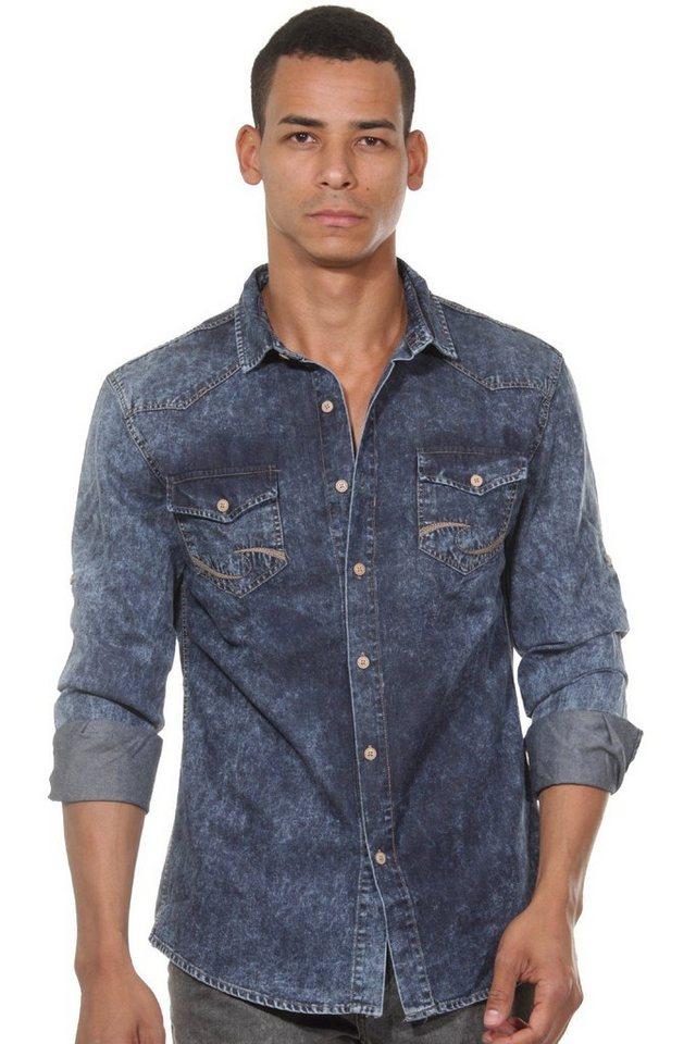 CATCH Langarmhemd in blau