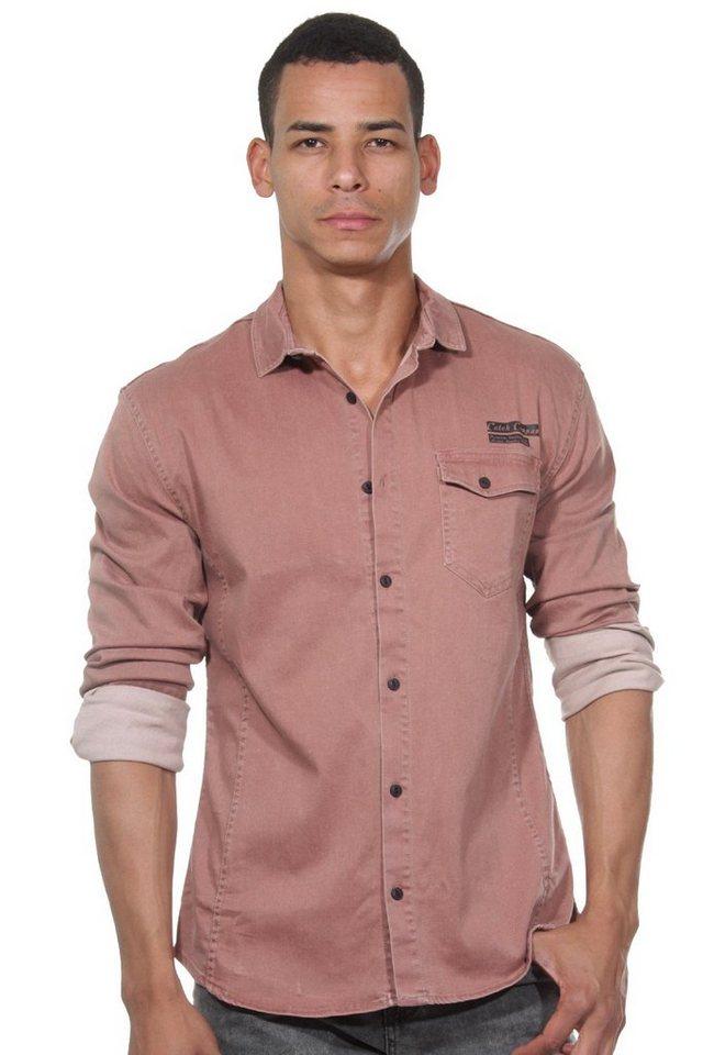 CATCH Langarmhemd in braun