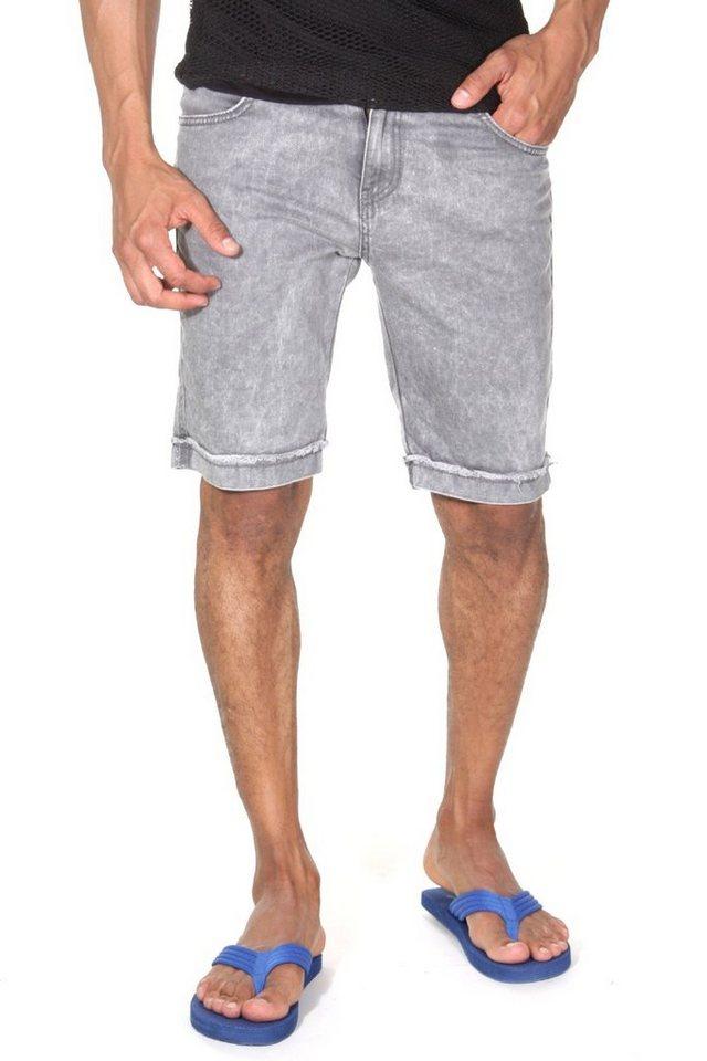 CATCH Denim Shorts in grau