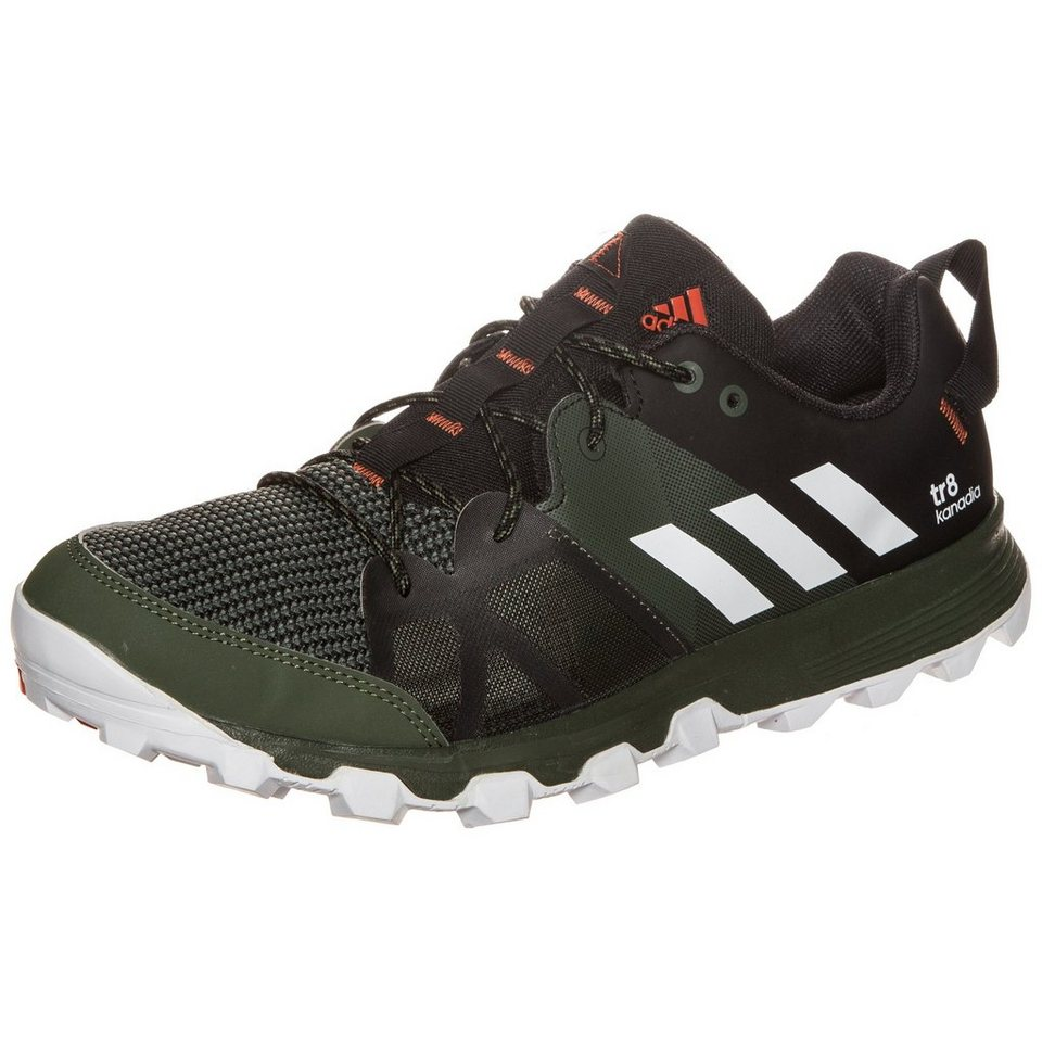 adidas Performance Kanadia 8 Trail Laufschuh Herren in oliv / schwarz
